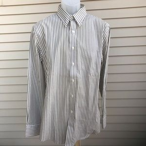 Dockers - Mens brown/cream stripes, Size 16/16.5